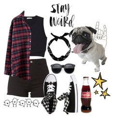 """""""Stay Weird"""" by thaisa-tcs ❤ liked on Polyvore featuring moda, A.L.C., Wet Seal, CO, women's clothing, women's fashion, women, female, woman e misses"""