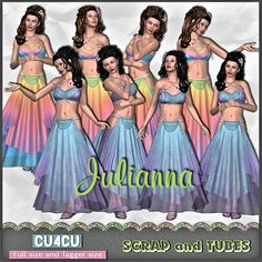 🎁 FREEBIE ~ JULIANNA by Scrap & Tubes Designs 🎁 8 full size women characters (300dpi) • png formats • CU4CU 🎁 Download page here > http://bit.ly/2FEUc9y
