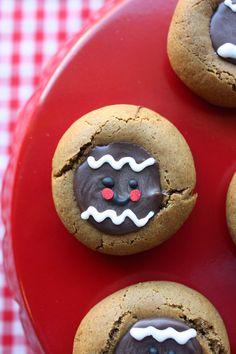 Munchkin Munchies: Gingerbread Men Chocolate Thumbprint Cookies