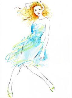 London fashion festival illustration by Katharine Asher