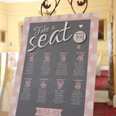 She Said Yes table plan