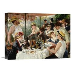 Global Gallery 'Luncheon of the Boating Party' by Pierre-Auguste Renoir Painting Print on Wrapped Canvas Size: