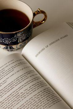 Three of my favorite things: coffee, books and Sherlock Holmes!