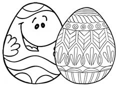 Hundreds of Free and Printable Easter Egg Coloring Pages: Easter Egg Coloring Pages at Coloring.ws
