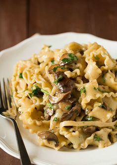 Creamy Mushroom-Fontina Pasta | Cooking Recipe Central ... (I'll substitute fontina with gouda cheese)
