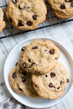 These ultra chewy chocolate chip cookies are hands down the best!  They also just happen to be healthy,  gluten free, paleo, dairy free and vegan too.   This family favorite is a go-to whenever you're craving a good homemade chocolate chip cookie, and they're perfect to bring to a party or serve to guests! Making …