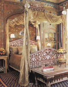 Ann Getty's beautiful bedchamber.