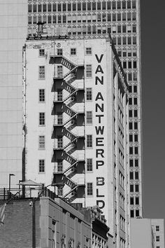 The back of the Van Antwerp Building in downtown Mobile.
