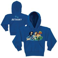 Personalized Wild Kratts Lion Around Royal Blue Kids' Hoodie, Girl's, Size: L (10/12)