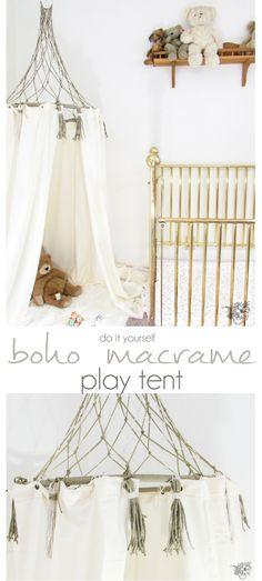 DIY Play Tent, Boho