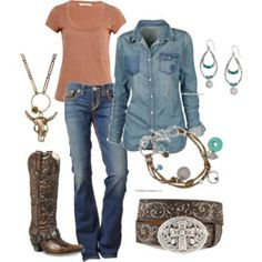 OK, Country Western is not really my thing, but I like this outfit!