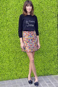 1. Falda estampada