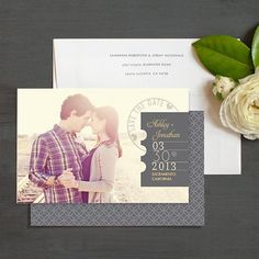 Postmark Save the Date Magnet