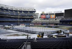 Americover's Ice Rink Liners makes its debut at the 2014 NHL games. Check out this video on how a stadium is transformed into an ice rink. Stadium Series, Next Sunday, Nhl Games, Ice Rink, Yankee Stadium, Great Photos, Ranger, Hockey, Surfing