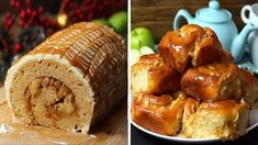 Apple Dessert Recipes, Fall Desserts, Apple Recipes, Delicious Desserts, Snack Recipes, Snacks, Apple Cinnamon Rolls, Twisted Recipes, Icebox Cake