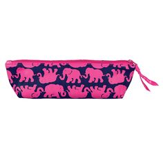 "Pretty pink pouch. Perfect for pens, pencils, change... and all things loose or pointy!  Lilly Pulitzer Pencil Pouch can keep all your school supplies neat and organized. The pencil holder is perfect for the backpack or purse, and the zipper pouch is perfect so your writing supplies are ready when you need them!    Measures 2.75"" � 9"" � 3"""