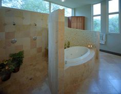 Top 10 Walk Through Shower Design Ideas on All Budgets Walk Through Shower, Small Bathroom, Bathroom Ideas, Master Bathroom, Bath Ideas, Shower Ideas, Tuscan Bathroom, Master Shower, Master Closet
