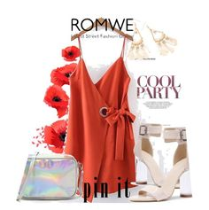 """""""*ROMWE*"""" by saaraa-21 ❤ liked on Polyvore featuring WithChic, romwe, shop and polyvorefashion"""