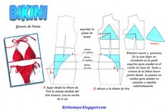 bikini patrones moldes