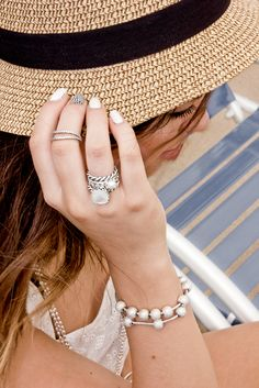 YouTube guru Claudia Sulewski from Beyond Beauty Star is sporting her timeless and elegant ring style. #PANDORA #PANDORAring