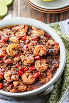11 Mediterranean One Pot Recipes | The Mediterranean Dish. This baked shrimp stew; spinach lentil soup; minestrone; Greek avgolemono soup and more! Delicious Mediterranean weeknight recipes for colder weather! See them all on TheMediterraneanDish.com