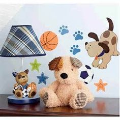 Lambs Amp Ivy 174 Bow Wow Buddies 9 Piece Crib Bedding Set