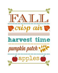 Print out this awesome Fall Printable, pop it in a frame and you have instant art for Fall and Thanksgiving.
