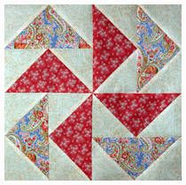Learn an easy, no-waste method to assemble Flying Geese for quilts. The no waste Flying Geese method is easy and accurate -- a win-win technique.: Learn the Easy No-Waste Method for Flying Geese Modern Quilt Patterns, Quilt Block Patterns, Pattern Blocks, Pattern Ideas, Pattern Design, Patchwork Vol D'oie, Patchwork Quilting, Flying Geese Quilt, Star Quilt Blocks