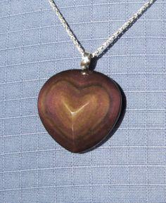 Rainbow obsidian silver heart pendant handmade necklace purple rainbow obsidian silver pendant handmade by lisa berry silver aloadofball Gallery