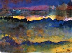 Emil Nolde Ocean, nd | Lola's Curmudgeonly Musings about Life ...