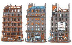 Fransız illustrasyon sanatçısıVincent Mahe şehirlerin mimari kimliklerine odaklanarak anlatılar oluşturuyor.Mahe, Paris'in sokaklarında yürürken kafasında bir kitap fikri belirmiş. Paris'in tek b...