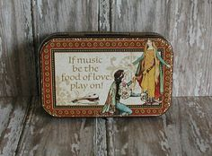 Altered Altoids® Tin Table or Desk Top Romance/Anniversary Memory Album, Wedding Shower Gifts, Die Cut Machines, Altoids Tins, Green Butterfly, Gold Background, Mini Scrapbook Albums, Graphic 45, Alters