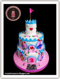 Creando en azucar: Torta Castillo de princesas