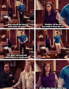 """On the other hand, safety first"" - Amy, Sheldon, Penny and Leonard #TheBigBangTheory ((Hahaha!!))"