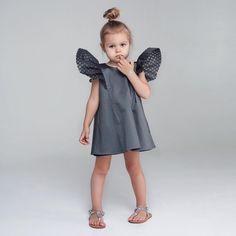"""Графитовое платье """"Крылья"""",в наличии 92 размер,цена: 6000.#miko_kids#dress#style#fashion#fotooftheday"""