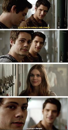 I love Scott smiling in the background as he sees what Stiles and Lydia now have