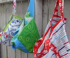Free Bag Pattern and Tutorial - Easy Five Step Market Tote Bag