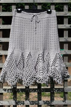 Crochet a Skirt.  Not a free pattern but might be worth trying...I wonder if it would be heavy to wear?