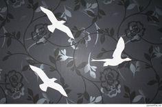Bird silhouettes decoration.