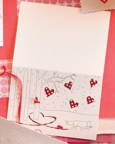 """See the """"Paw Prints in the Snow Clip Art"""" in our Clip Art and Templates for Valentine's Day Cards gallery"""