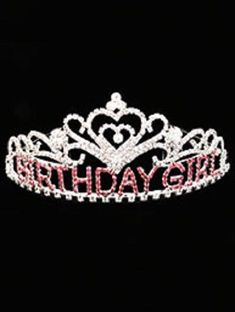 New Birthday Girl Happy Birthday Crystal Rhinestone Tiara Hair Comb Crown 5 inch | Clothing, Shoes & Accessories, Wedding & Formal Occasion, Bridal Accessories | eBay!