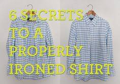 properly ironed shirt