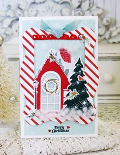 Merry Christmas Card by Melissa Phillips for Papertrey Ink (September 2015)