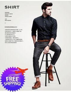 korean-fashion-men-long-sleeve-pure-color-smart-
