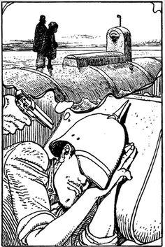 Le mauvais rève du major Grubert Par Moebius