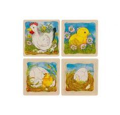 Fases de la gallina en capas de puzzle de madera . Montessorihttp://www.hullitoys.com/todos-los-juguetes/2984-puzzle-de-capas-la-gallina-4013594575218.html