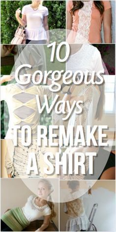 The criss cross rope back shirt. Love it. Like string art on clothing. 10 Gorgeous Ways To Remake A Shirt - #DIY Upcycling of Old T-Shirts