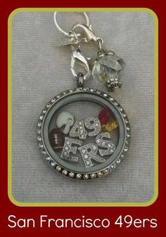 Origami Owl is a leading custom jewelry company known for telling stories through our signature Living Lockets, personalized charms, and other products. Sf Niners, Forty Niners, Nfl 49ers, 49ers Fans, Origami Owl Lockets, Origami Owl Jewelry, Muse, Locket Bracelet, Personalized Charms