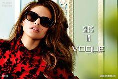 accesorios lentes de sol campana otono invierno vogue eyewear con eva mendes y mario testino
