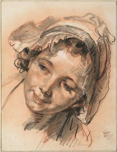 File:Jean-Baptiste Greuze - Head of Smiling Girl, c. Life Drawing, Figure Drawing, Drawing Sketches, Painting & Drawing, Trois Crayons, Pastel Portraits, Watercolor Portraits, Chalk Drawings, Art Drawings
